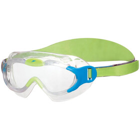 speedo Biofuse Sea Squad Mask Kinder sport blue/hydro green
